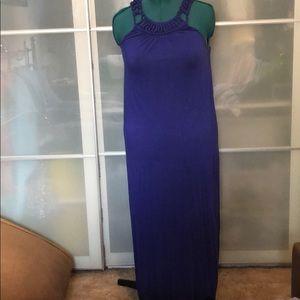 MICHAEL Michael Kors blue maxi dress - size L